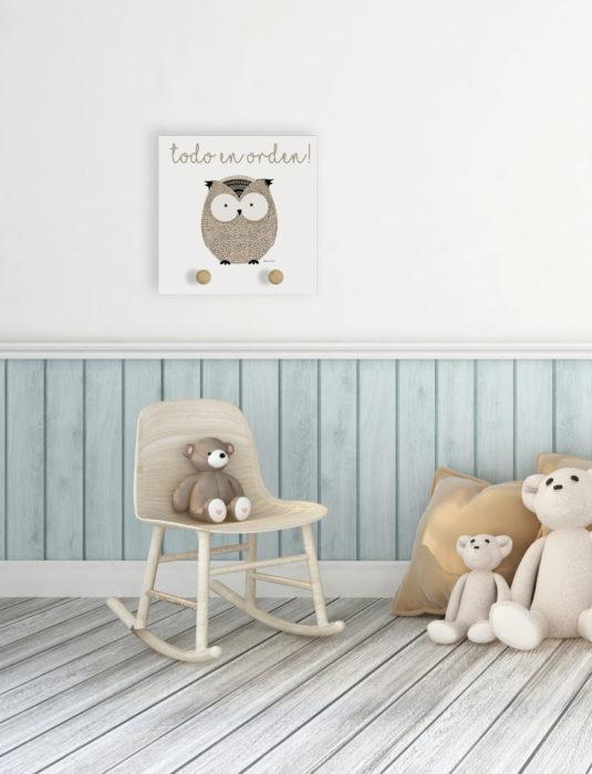 owl scaled 535x700 - Perchero Owl