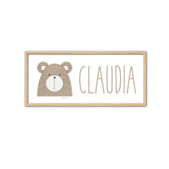 Cuadro Nombre bear-min