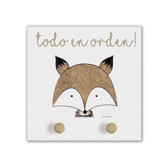 Perchero Little Animal fox-min