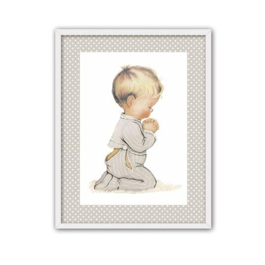 Niño rezando topito blanco gris-min