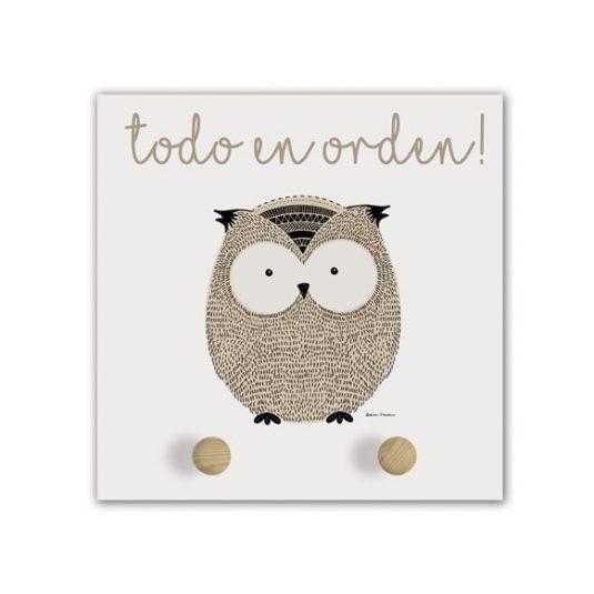 Perchero Little Animal owl-min