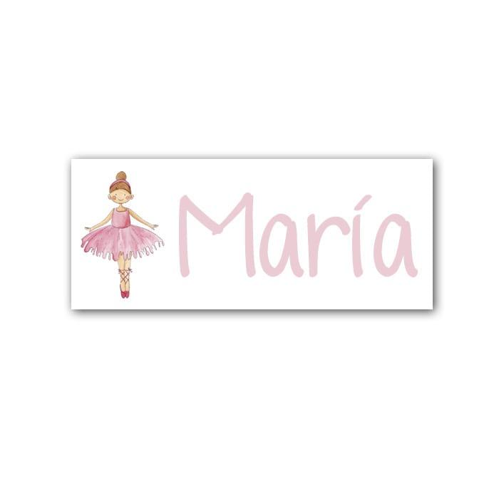 Cuadro Nombre Bailarina-rosa-min