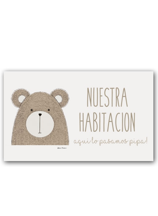 Placa Little Animal Bear