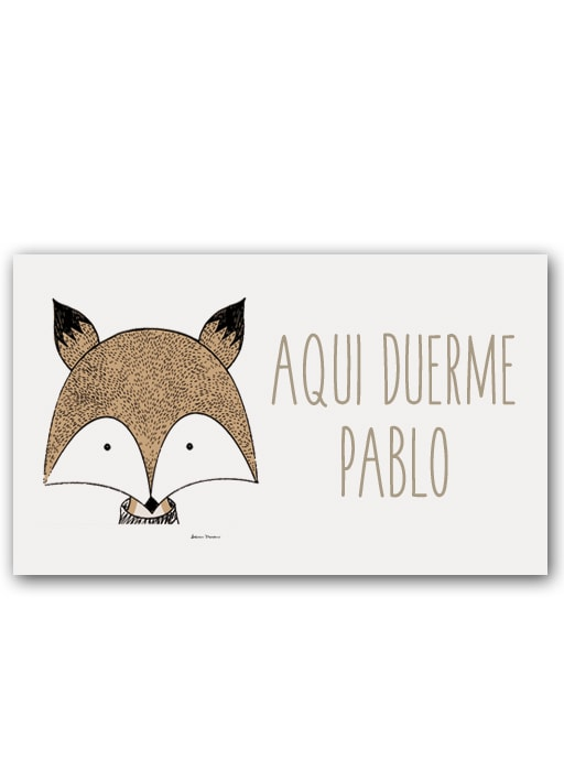 Placa Little Animal Fox