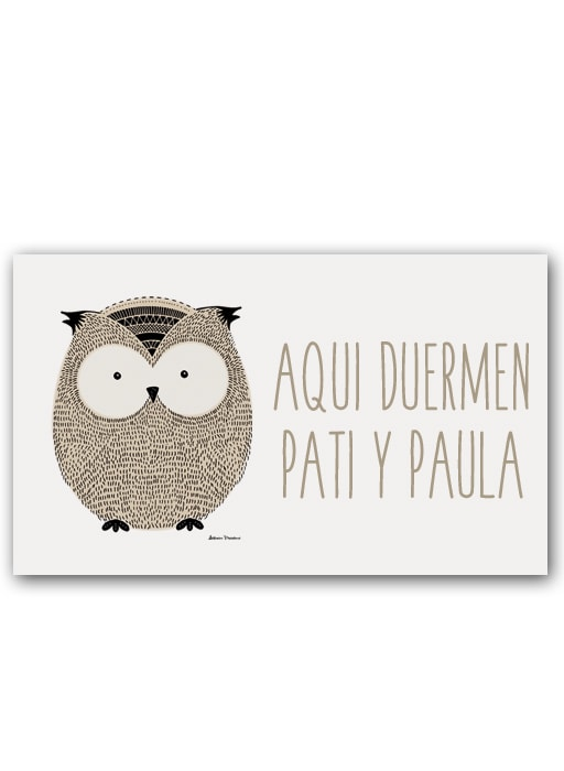 Placa Little Animal Owl Pers