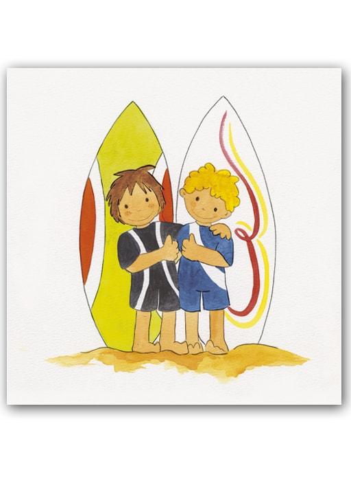 Cuadro Niños Surf2 Bast