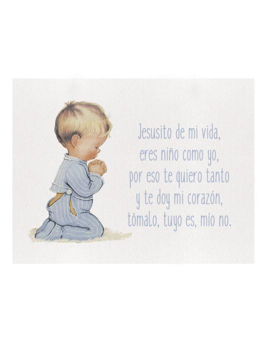 NROC 535x696 - Cuadro Niño Rezando Oración Liso