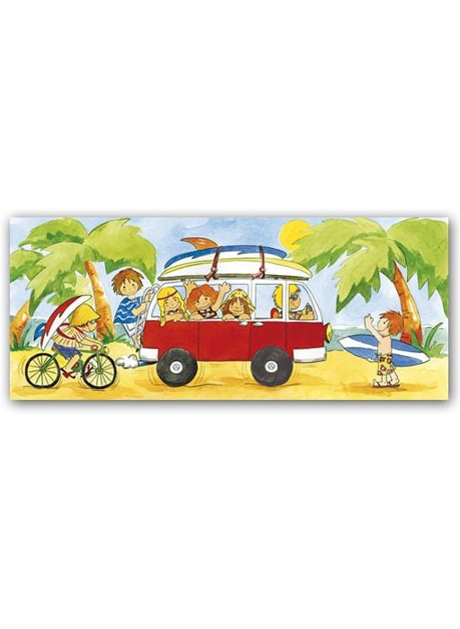 Cuadro Niños Surf furgoneta Bast
