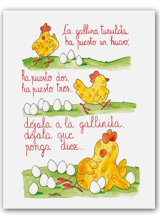Cuadro Cancion Gallina Bast-min
