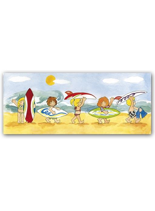 Cuadro Niños Surf Tabla Bast