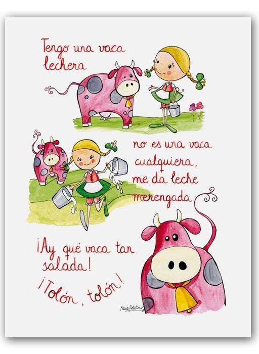 Cuadro Cancion Vaca Bast-min