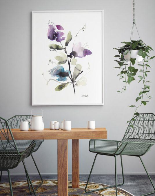 AMB B6 min 535x673 - Cuadro Flores Violetas B6