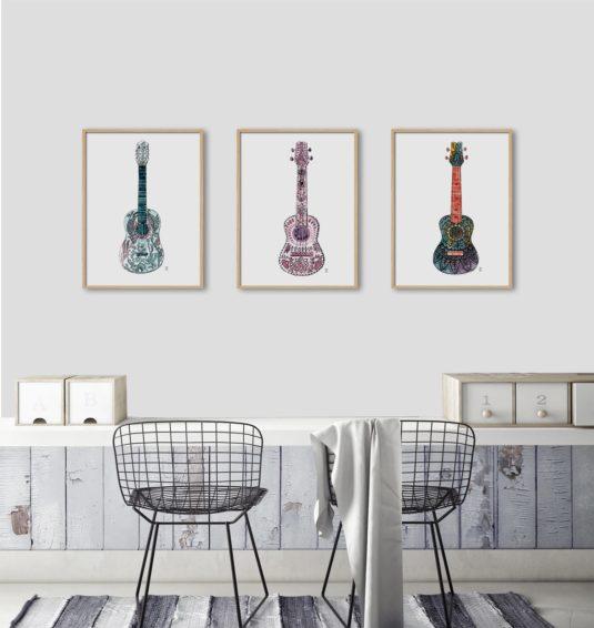 CE128 AMB min 535x566 - Cuadro Color Guitar CE127
