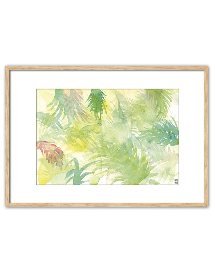 WATERCOLOR LEAVES EV49 PPT NT-min
