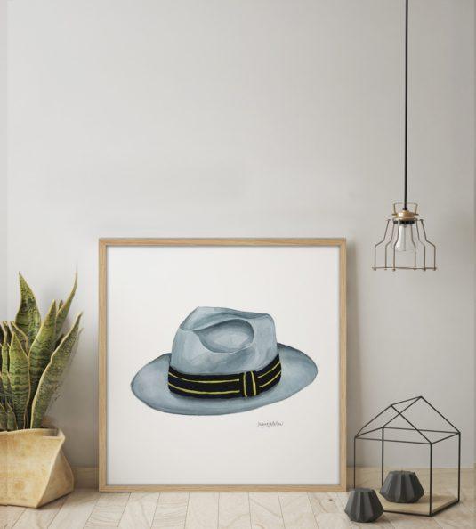 PL62 AMB min 535x594 - Cuadro Men Hat I PL62