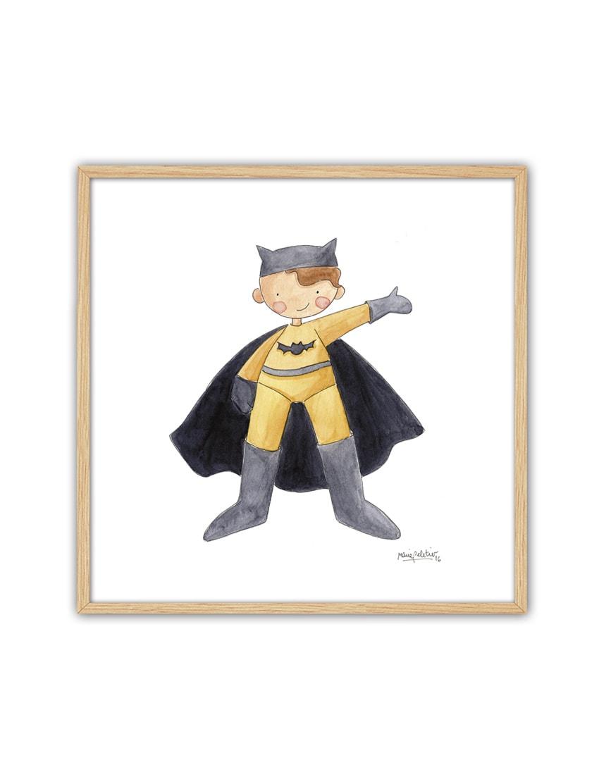 CUADRO BATMAN ENNT min - Cuadro Super Héroe Batman Pequeño