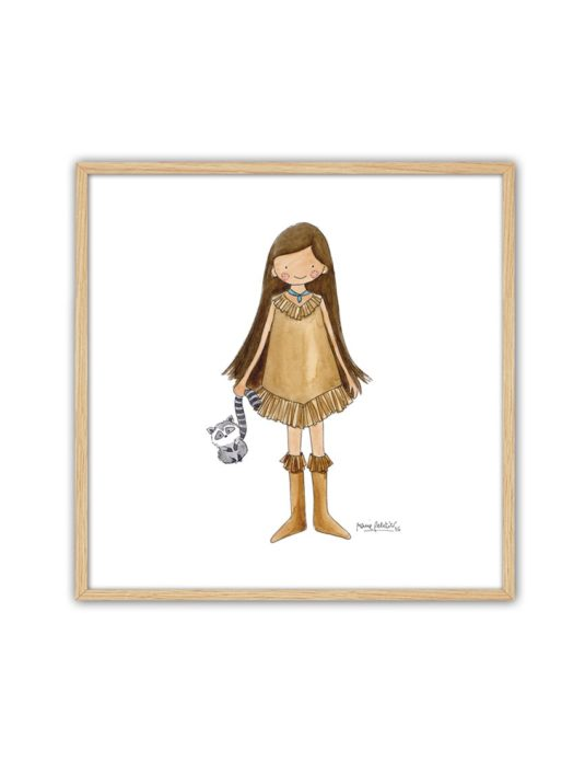 CUADRO POCAH ENNT min 535x696 - Cuadro Princesas Pocahontas