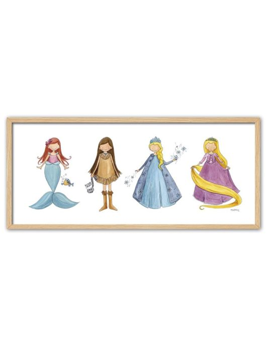 CUADRO PRINCESAS ENNT min 535x696 - Cuadro Princesas Grande