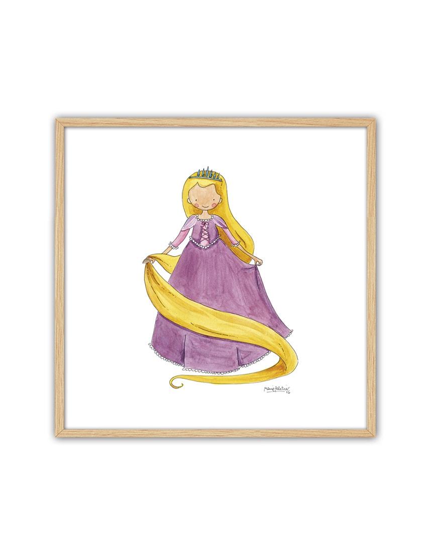 CUADRO RAPUN ENNT min - Cuadro Princesas Rapunzel Pequeño