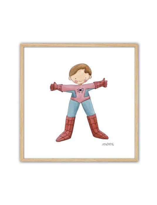 CUADRO SPIDERMAN ENNT min 535x696 - Cuadro Super Héroe Spiderman Pequeño