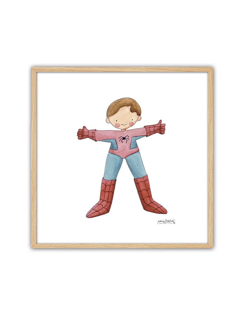 CUADRO SPIDERMAN ENNT min - Cuadro Super Héroe Spiderman Pequeño
