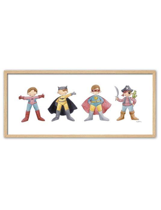 CUADRO SUPER HEROES ENNT min 535x696 - Cuadro Super Héroes Grande