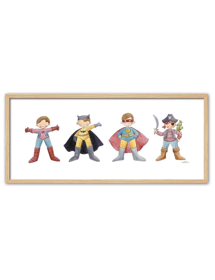 CUADRO SUPER HEROES ENNT min - Cuadro Super Héroes Grande