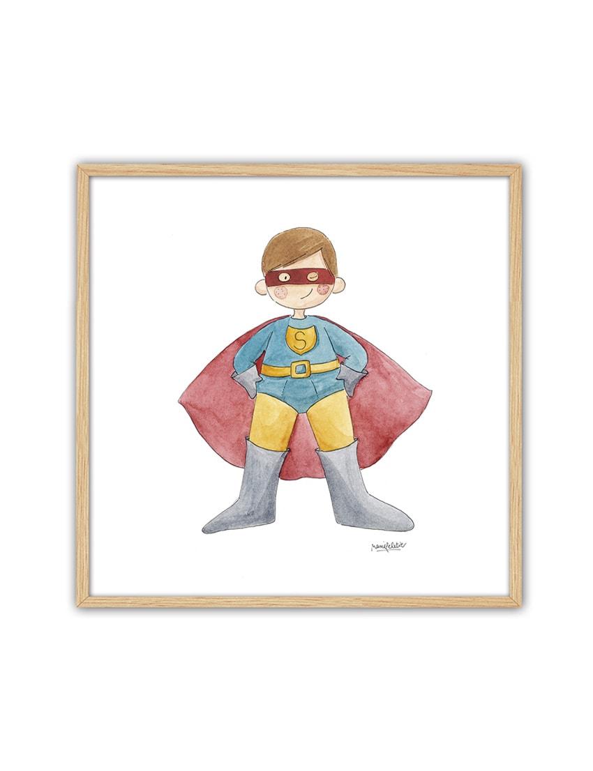 CUADRO SUPERMAN ENNT min - Cuadro Super Héroe Superman Pequeño