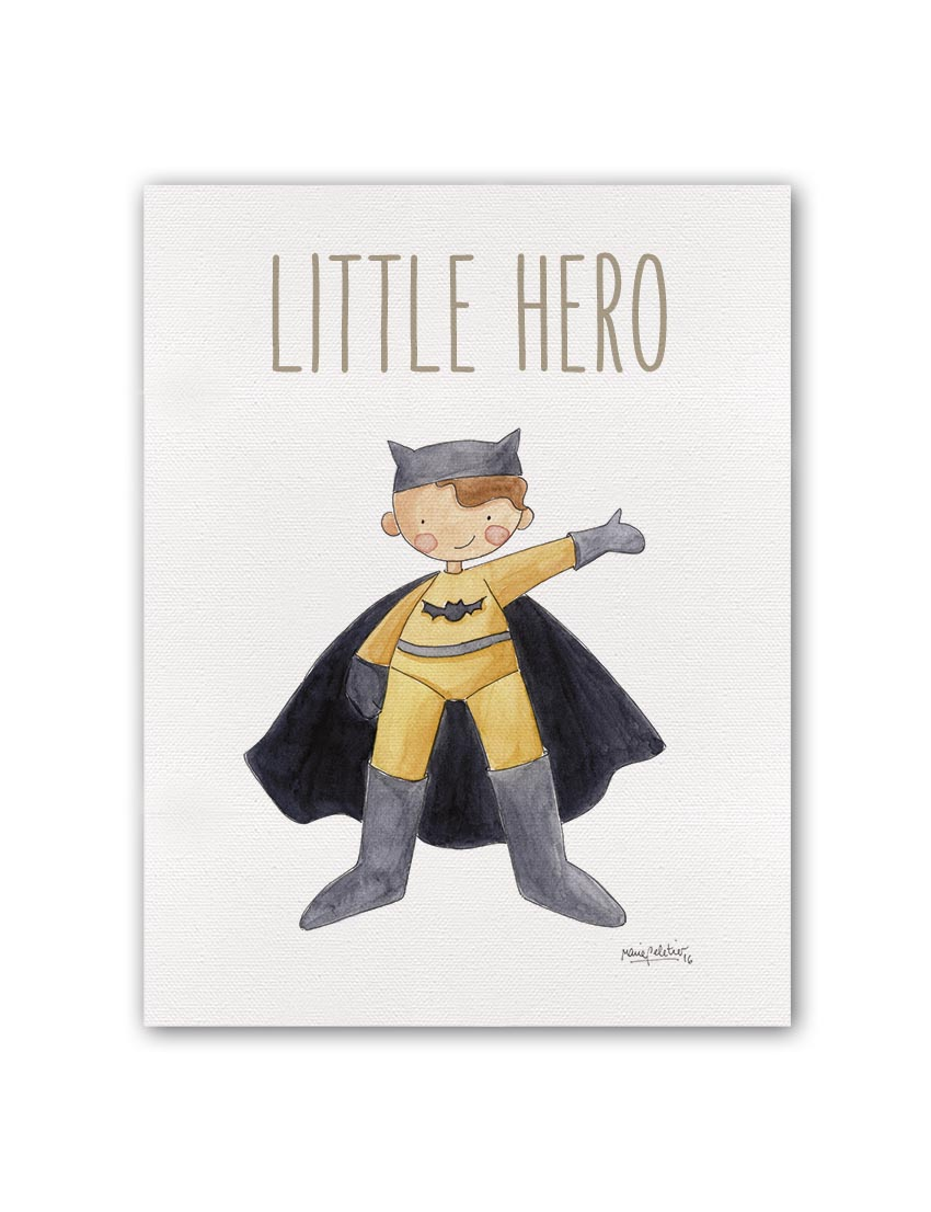 "LITTLE HERO BATMAN BT min - Cuadro ""Little Hero"" Batman"