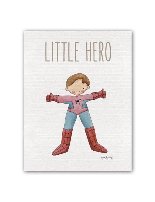 "LITTLE HERO SPIDERMAN BT min 535x696 - Cuadro ""Little Hero"" Spiderman"