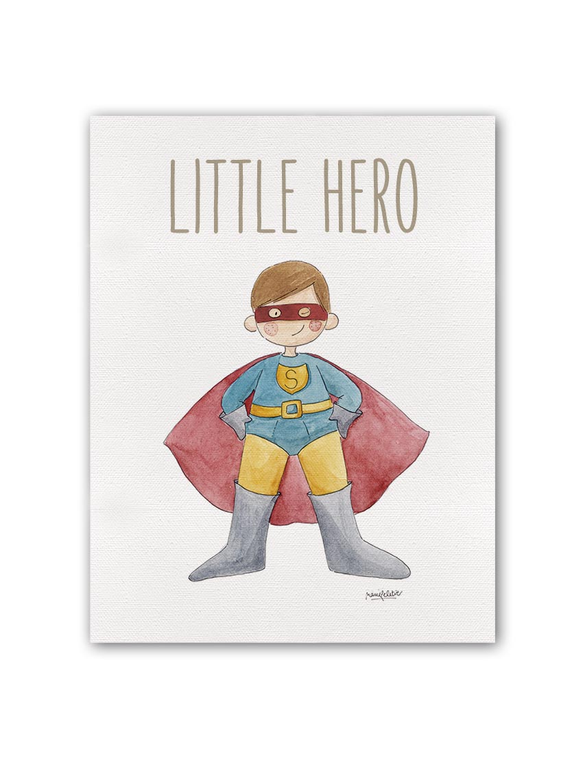 "LITTLE HERO SUPERMAN BT min - Cuadro ""little Hero"" Superman"
