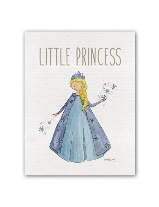 "LITTLE PRINCESS FROZEN BT min 535x696 - Cuadro ""Little Princess"" Frozen"