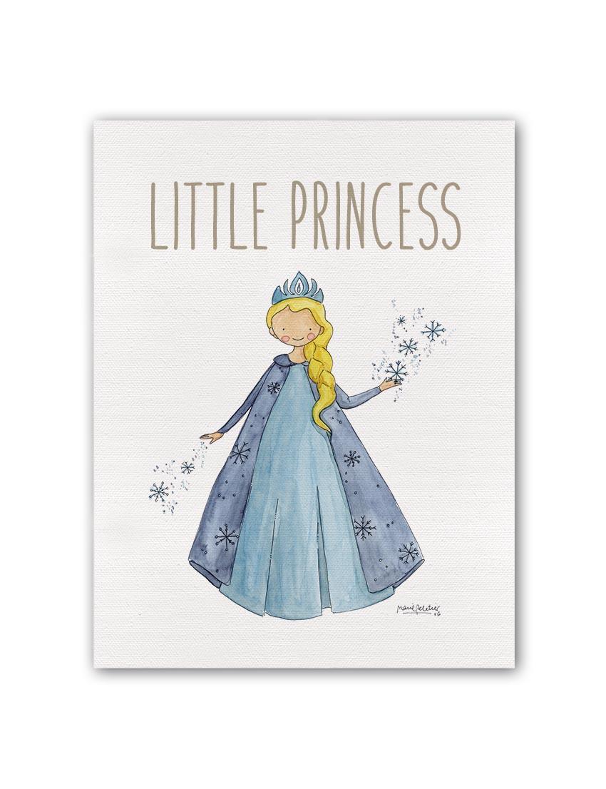 """LITTLE PRINCESS FROZEN BT min - Cuadro """"Little Princess"""" Frozen"""