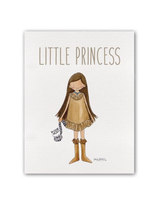 "LITTLE PRINCESS POCAH BT min 535x696 - Cuadro ""Little Princess"" Pocahontas"