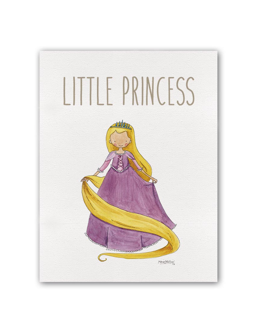 "LITTLE PRIONCESS RAPUN BT min - Cuadro ""Little Princess"" Rapunzel"