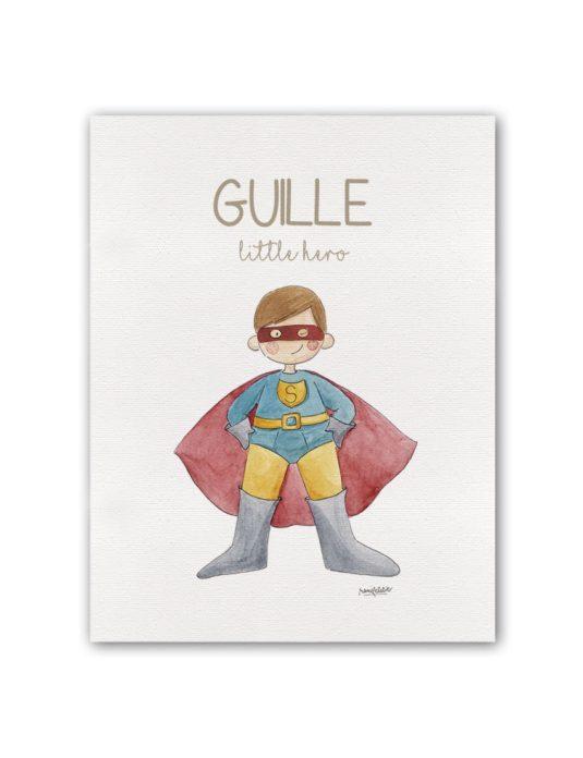 "NOMBRE HERO SUPERMAN BT min 535x696 - Cuadro Nombre ""Little Hero"" Superman"