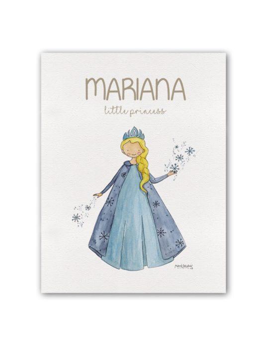 """NOMBRE PRINCESS FROZEN BT min 535x696 - Cuadro Nombre """"Little Princess"""" Frozen"""