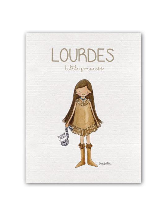 """NOMBRE PRINCESS POCAH BT min 535x696 - Cuadro Nombre """"Little Princess"""" Pocahontas"""