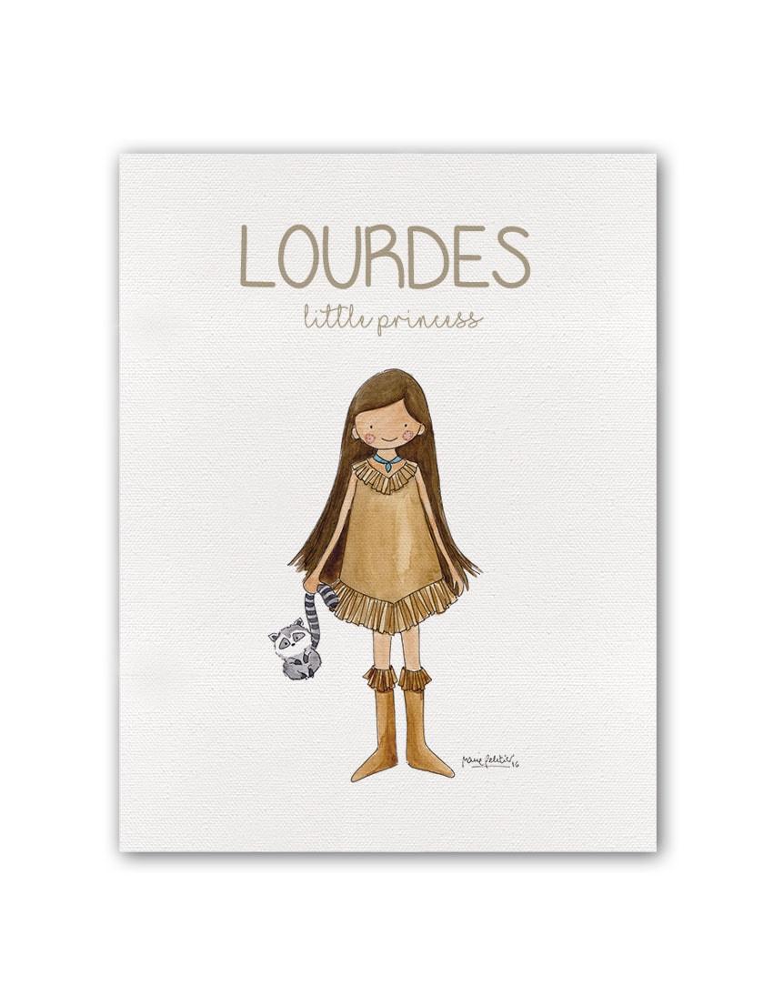 """NOMBRE PRINCESS POCAH BT min - Cuadro Nombre """"Little Princess"""" Pocahontas"""
