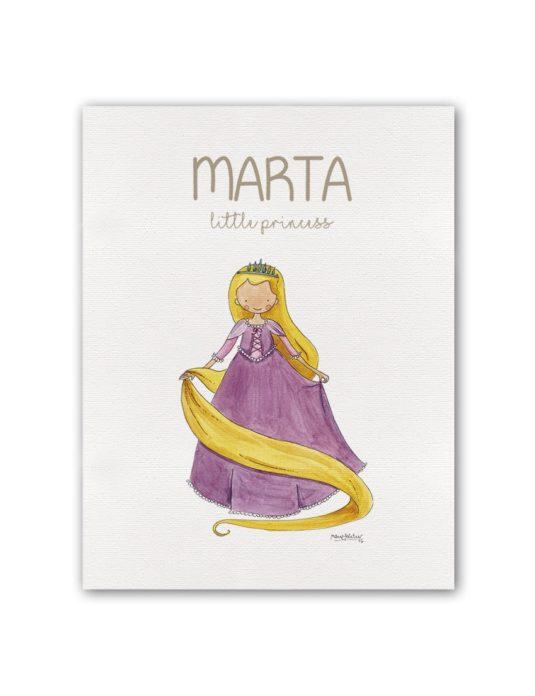 """NOMBRE PRINCESS RAPUN BT min 535x696 - Cuadro Nombre """"Little Princess"""" Rapunzel"""