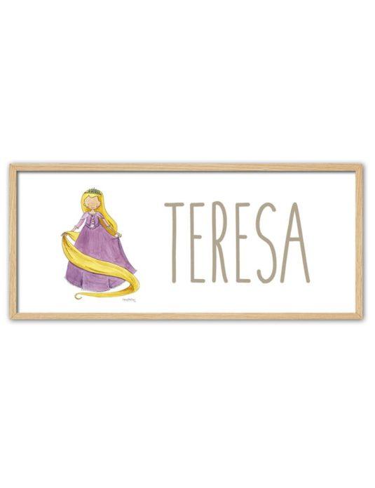 NOMBRE RAPUN ENNT min 535x696 - Cuadro Nombre Princesas Rapunzel