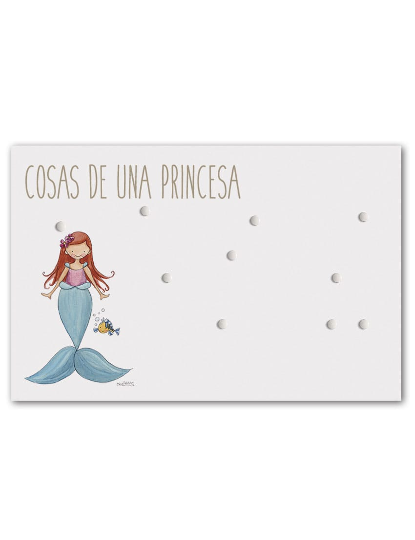 PANEL SIRENITA min - Panel Magnético Princesas Sirenita