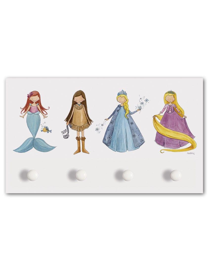 PERCHERO 4 POMOS PRINCESAS min - Perchero Princesas Grande