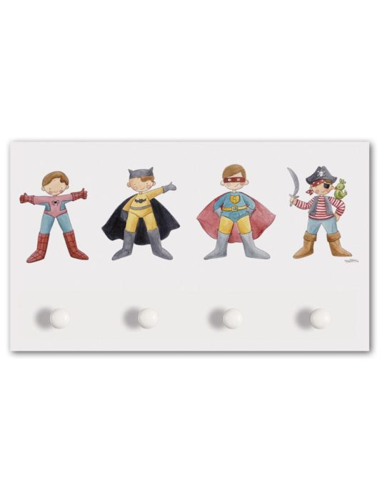 PERCHERO 4 POMOS SUPERHEROES min 535x696 - Perchero Super Héroes Grande
