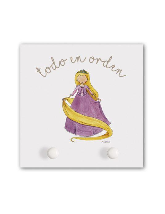 PERCHERO RAPUN min 535x696 - Perchero Princesas Rapunzel Pequeño
