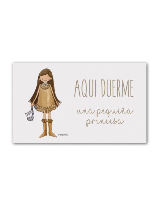 PLACA PUERTA POCAH min 535x696 - Placa Puerta Princesas Pocahontas