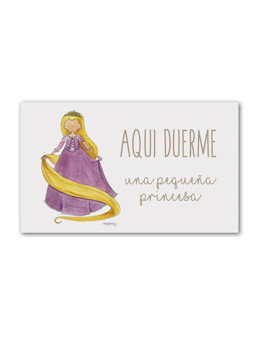 PLACA RAPUN min - Placa Puerta Princesas Rapunzel