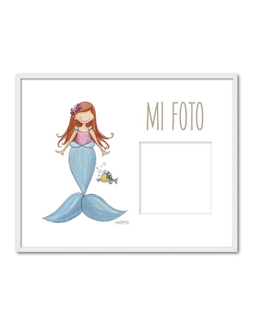 PORTAF SIRENITA ENB - Portafotos Princesas Sirenita