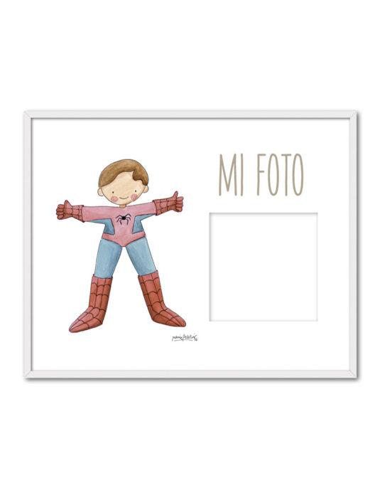 PORTAF SPIDERMAN ENB 535x696 - Portafoto Super Héroes Spiderman