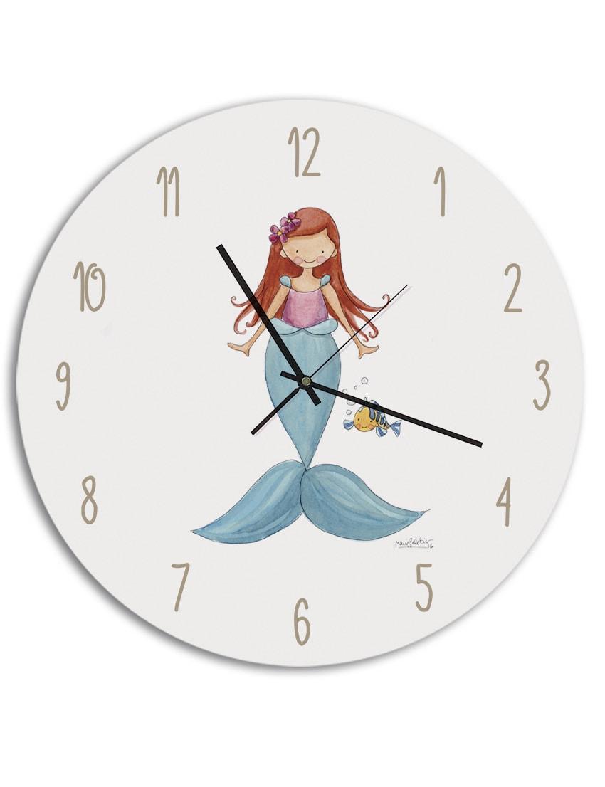 RELOJ SIRENITA min - Cuadro Princesas Frozen